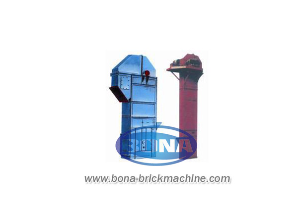 Bucket type hoisting machine